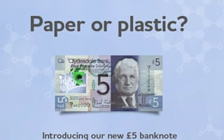 Bank begins full production of plastic £5 notes