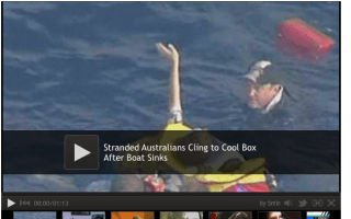 Sea rescue: Four people found clinging to a cool box off Australian coast