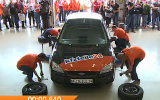 Video: Germans break record for fastest tyre change