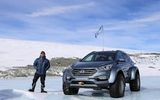 Sir Ernest Shackleton's great-grandson crosses Antarctica in family car