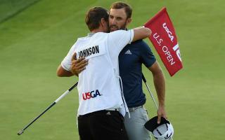 Johnson wins first major at U.S. Open despite penalty