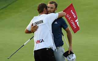 Johnson wins first major at U.S. Open despite penalty