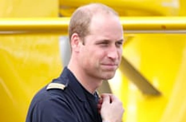 Prince William 'not on board' helicopter near miss