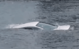 Retired policeman saves 24-year-old from sinking car