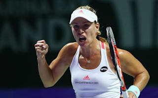 Kerber survives wobble to beat Cibulkova