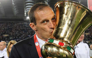 Allegri salutes players after Juve clinch double