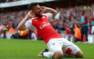Arsenal 4 Aston Villa 0: Giroud hat-trick sees Gunners finish above Spurs