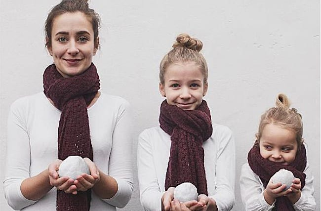 Mum dresses in the same outfits as her daughters