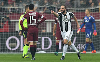 Torino 1 Juventus 3: Higuain at the double in hard-fought derby win