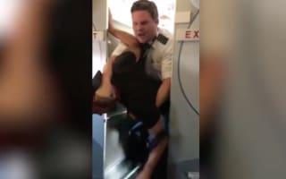 Pilot takes down passenger who pushed flight attendant