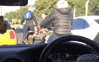 Masked bikers terrorise streets of Liverpool