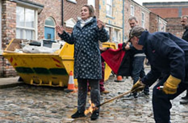 Corrie actress reveals why she did that fire stunt herself