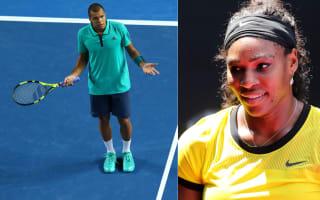 Australian Open: Tsonga challenged, Serena's Snapchat love