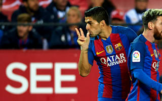 Suarez pleased with fifth booking