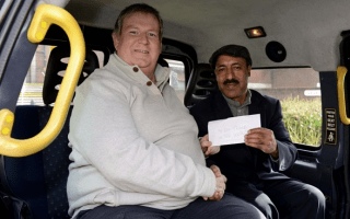 Honest cabbie returns forgotten £10,000
