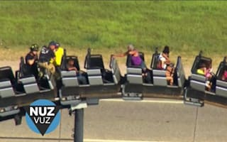 Eight people get stuck on top of 100ft roller coaster