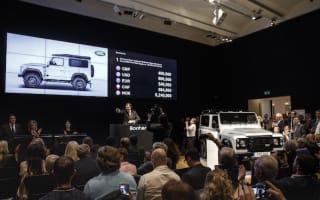 The 2,000,000th Land Rover Defender sells at auction for £400k