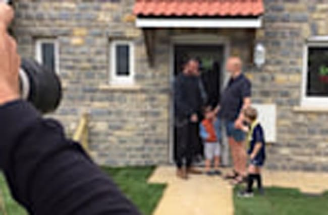 David Beckham opens social housing in Somerset