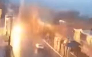 Horror as car struck by lightning