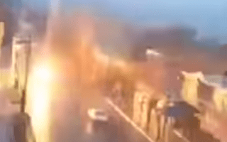 Horror as car struck by lightning