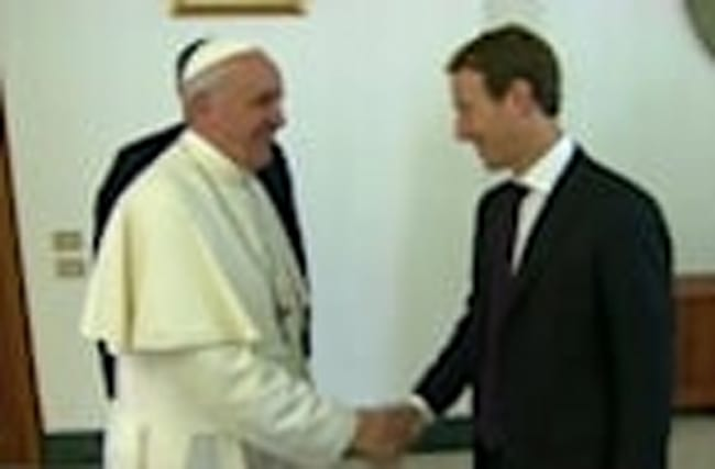 Pope Francis meets with Facebook's Zuckerberg