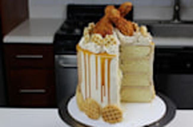 This Chicken and Waffles Cake is Like Nothing You've Ever Seen