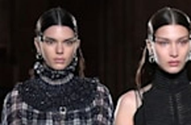 Kendall Jenner and Bella Hadid Crush the Runway at Givenchy's 2017 Paris Fashion Week Show
