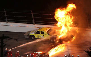 Video: Fireball as Montoya slams into fuel truck at Daytona 500