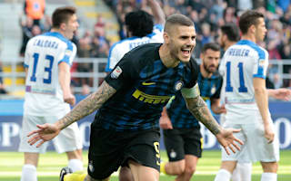 Icardi hits perfect nine-minute hat-trick for rampant Inter