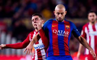 Barcelona's Mascherano a major doubt for PSG clash