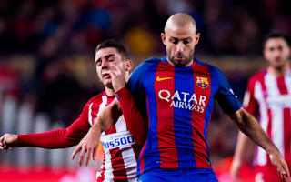 Barcelona's Mascherano a major doubt for PSG clash