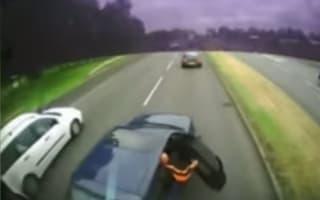 Bizarre crash sees driver calm down after spotting dash cam