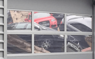 Audi dealership suffers roof collapse