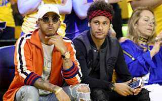 Neymar, Beckham and Hamilton courtside for NBA Finals