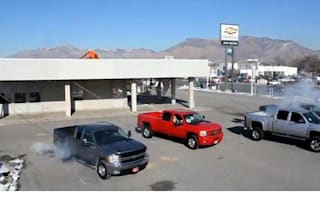 Chevy dealer shows ingenious way of pulling down showroom