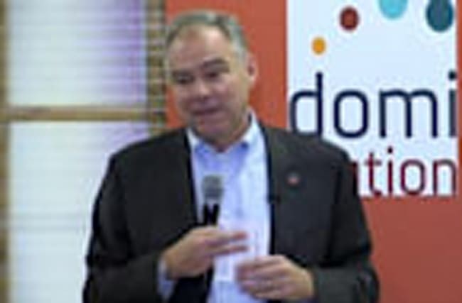 """Kaine: """"You have got to build a community of respect"""""""