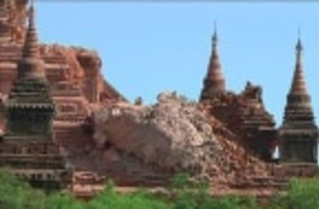 Myanmar quake damages ancient temples