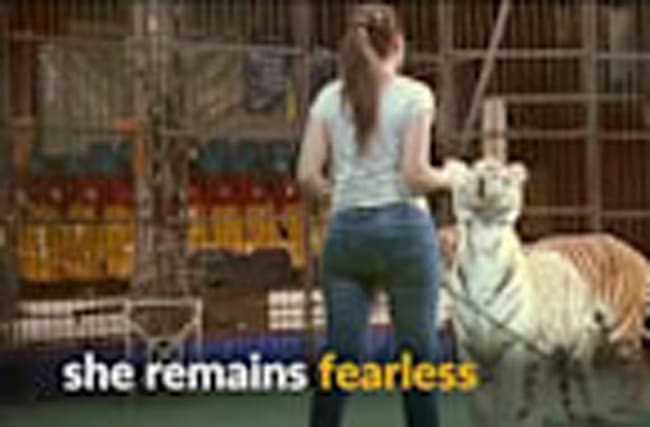 Meet Egypt's female wild animal trainer