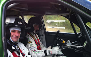 On track with Rally of Scotland winner Andreas Mikkelsen