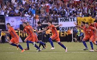 Argentina 0 Chile 0 (aet, 2-4 on penalties): Defending champs sink Messi and Co. again