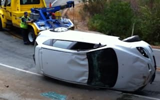 Video: tow truck driver sends car straight into ditch