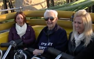 Great-grandad, 105, becomes oldest person to ride a rollercoaster