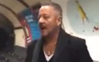 Tube passengers burst into song on London Underground