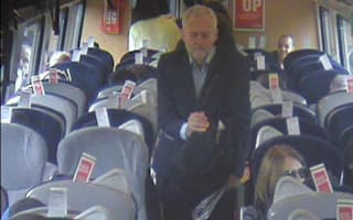 Remember when Corbyn sat on the floor of a train? Well, Virgin CCTV 'shows him walking past empty seats' beforehand