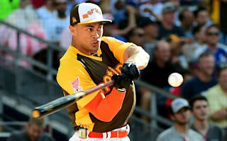 Stanton unseats Frazier to win Home Run Derby with record total