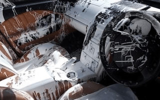 Maserati written off by spilled paint