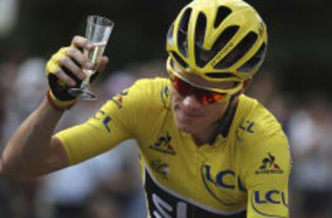 Britain's Chris Froome wins third Tour de France