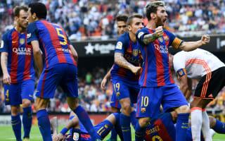 Luis Enrique, Valencia condemn missile throwing after Barcelona winner
