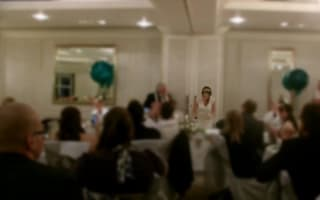 Woman overcomes crippling stammer to read vows at her wedding