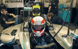 Martin Brundle test drives latest Mercedes F1 car